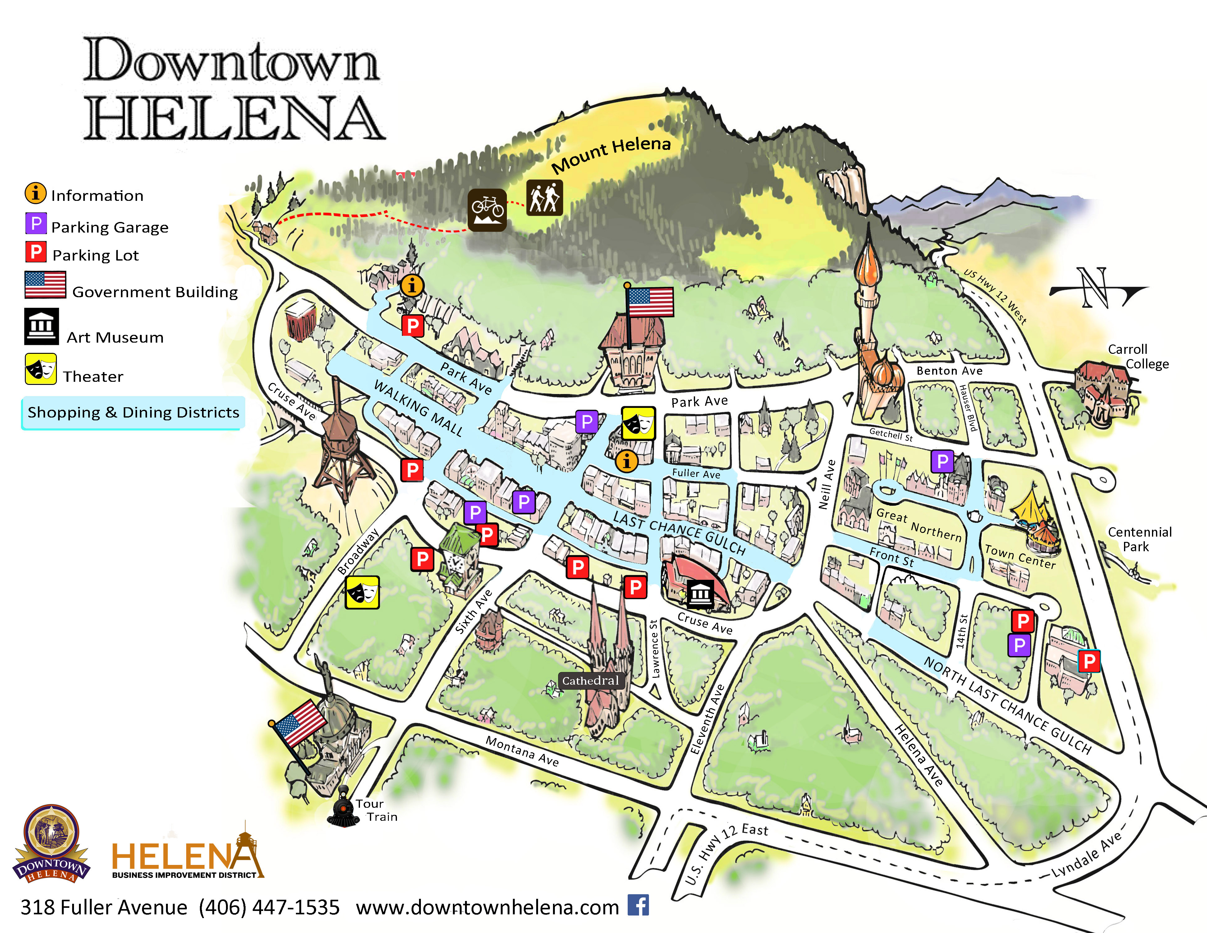 downtown map - Downtown Helena